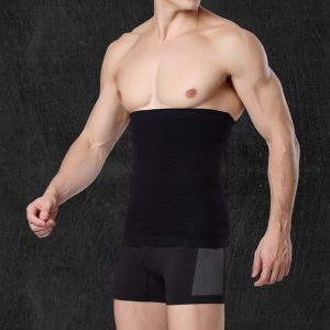 Hot sale Men Body Black Healthy Slimming Belt Abdomen Shaper Burn Fat Lose Weight