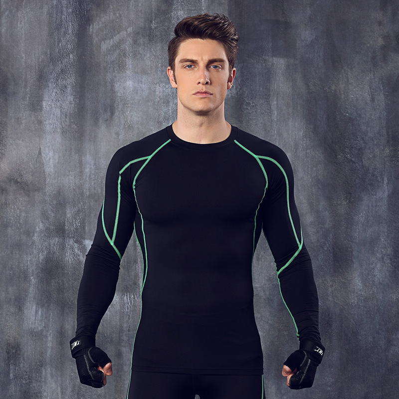 Men's T Shirt Wholesale Sport Top Running Training Clothing Elastic Compression Quick Drying Fitness Wear Tights