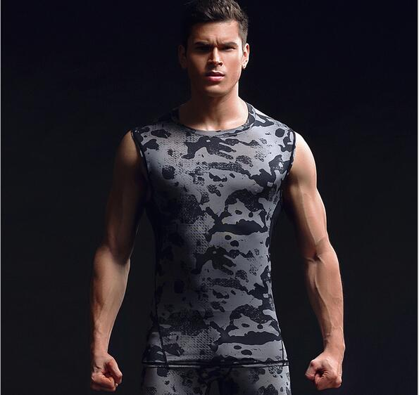 Fitness Wear Running Training Clothing Elastic Compression Quick Drying Sports Tight Vest Sports Wear