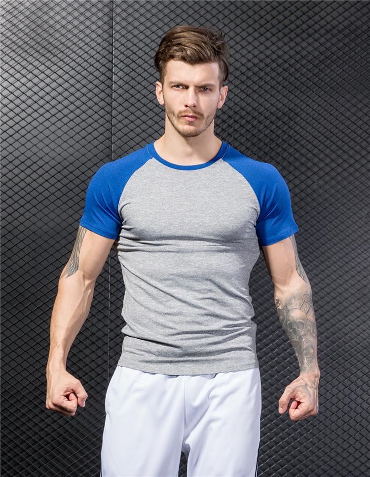 Wholesale Men Gym Custom Tshirt Short Sleeve T Shirts Compression Blank Dry Fit T Shirts