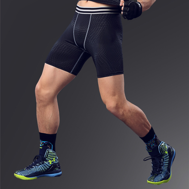 Fitness Men's Spandex Basketball Running Training Pants Elastic Compression Quick – drying Pants Sports Leggings Gym Wear