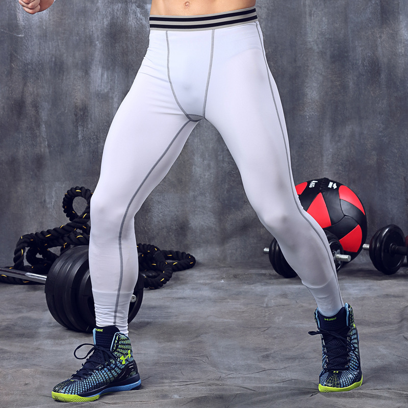 Men's Manufacturers running training stretch compression Brazilian Yoga sports nine points Pants