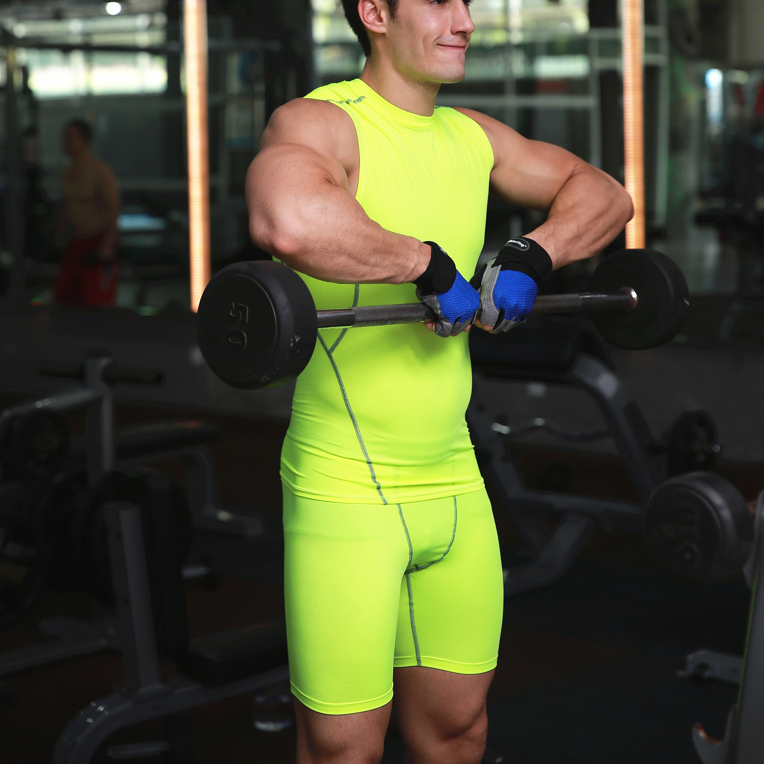 Fitness Sports Training For Men basketball running training stretch compression shorts Custom trousers Pants