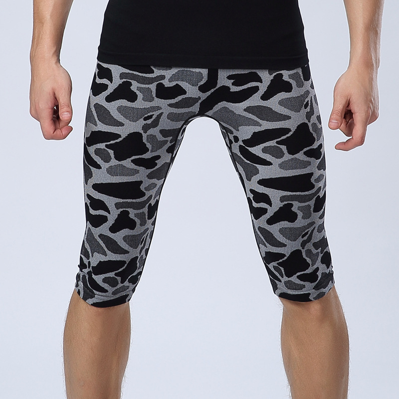 Wild leopard man tight Gym Wear Singlets body sculpting soft light pressure comfortable breathable quick-drying sports pants