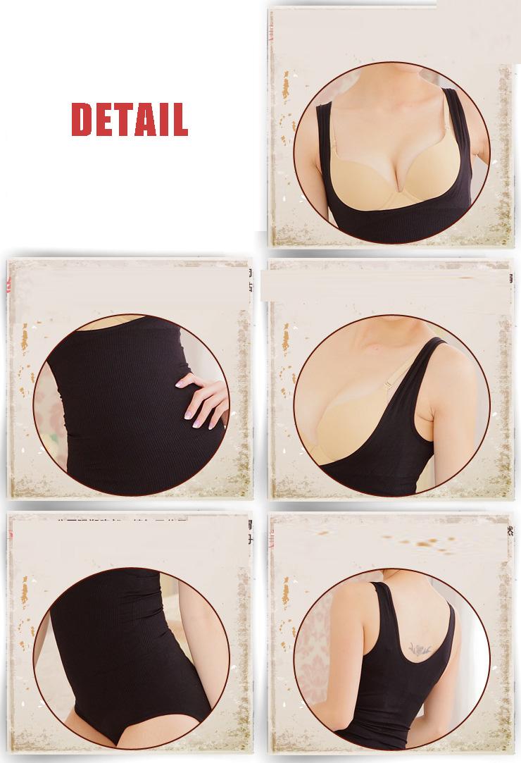 Plus size one-piece shapewear undergarment adjustable functional typebody control underwear