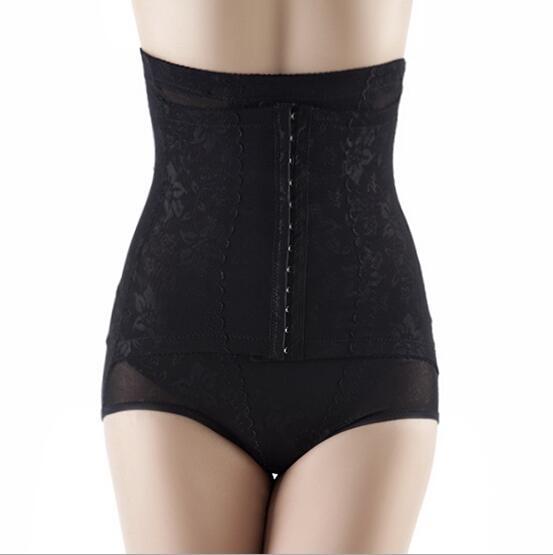 High waist hooks girdle pantie sexy waist trainer women underwear