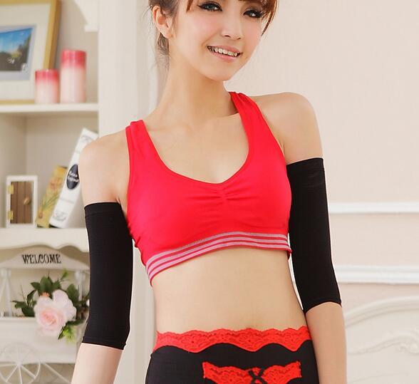 Hot women's elastic shapewear 5 min thiner black weight-loss slimming arm shaper