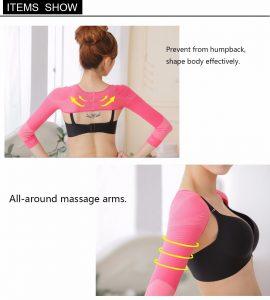 Wholesale women Slim body shaper Arm Correct Back Posture Shaper Humpback Prevent Shaper Long Sleeve Shapewear