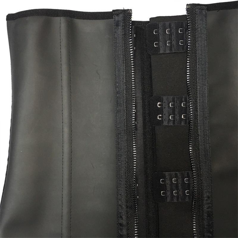 Body shaper belt Factory High quality latex waist cincher 9 steel boned zipper 3 hooks corset best waist trainer cincher