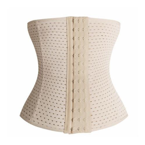 In stock popular waist trainer 9 steel boned corset sexy body shaper belt