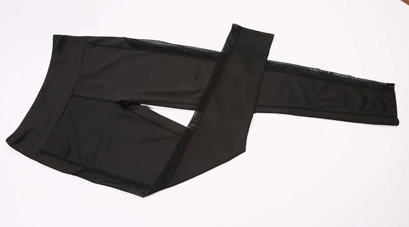 Lady slim running fitness leggings good elastic professional yoga pants with pockets
