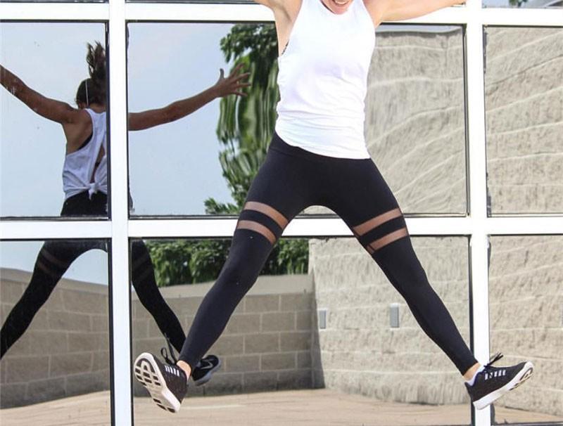 Custom women high waist leggings sports black yoga pants