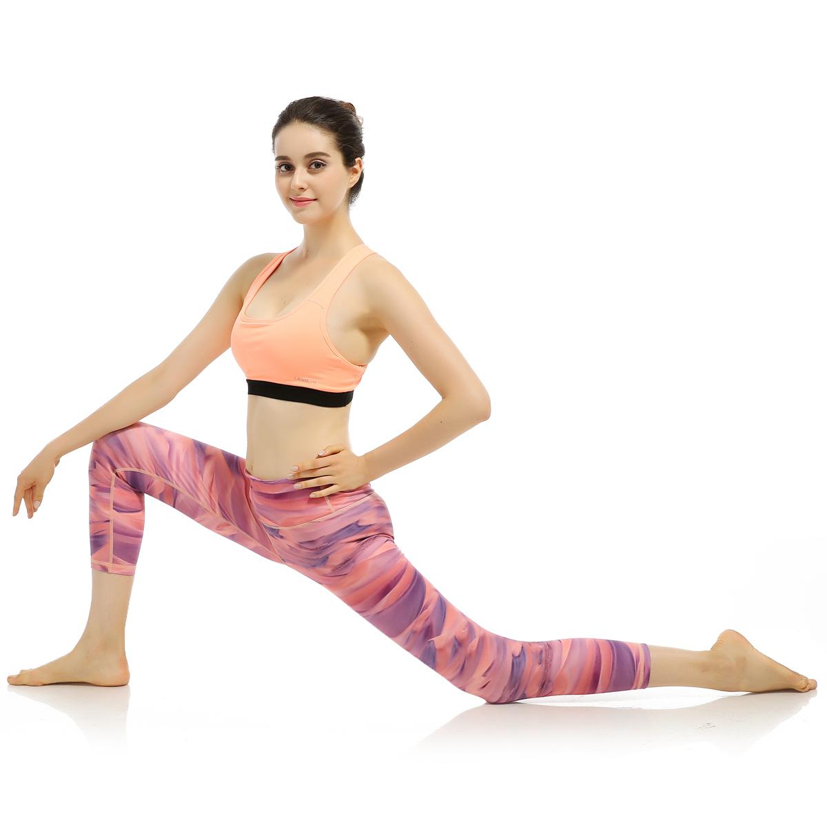 Custom made yoga pants wholesale printed yoga pants for women