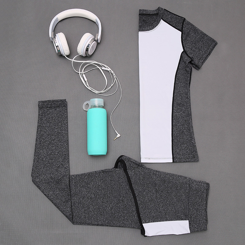 High quality t shirt and pant ladies sports wear set sport suit women