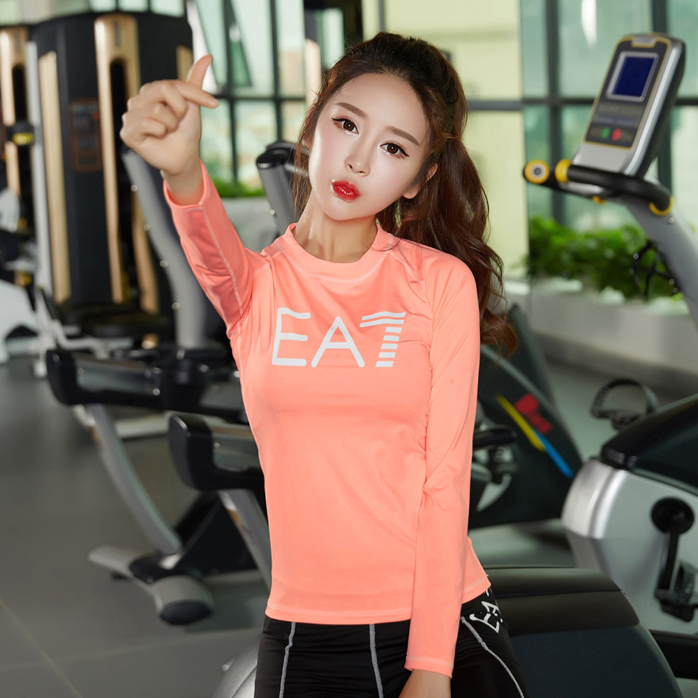 OEM custom size breathable quick Dry women gym sport shirt