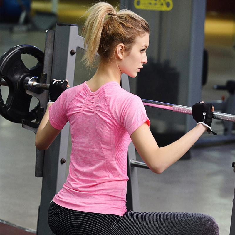 Manufacturers wholesale Dry Fit female back fast dry sweat fitness yoga sports Wear Women T shirt Wear Sports