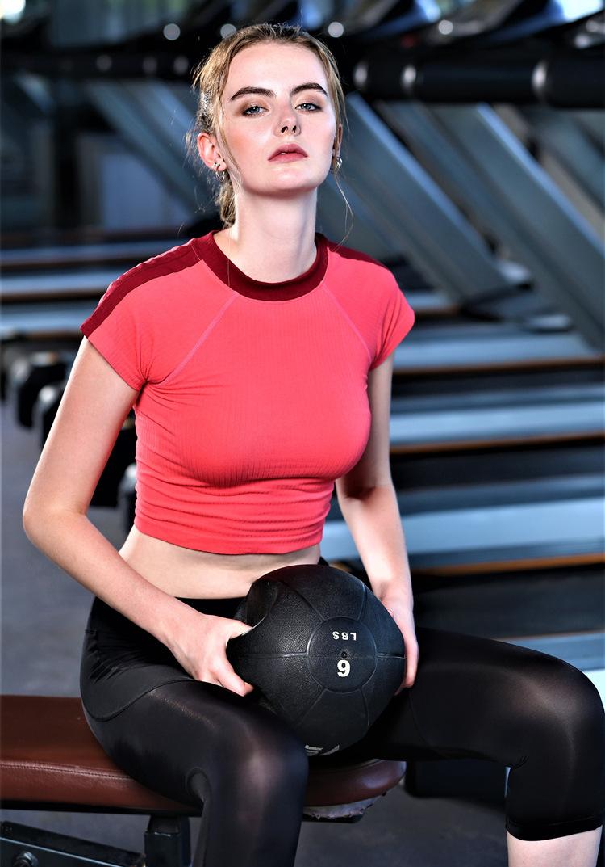 Yoga T-Shirts Tops For Women Dry Quick Yoga Gym Top Compression Women's Sport T Shirt Running Short Sleeve Shirts Tee