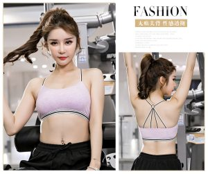 Wholesale trendy OEM sports bra custom breathable women sports bra